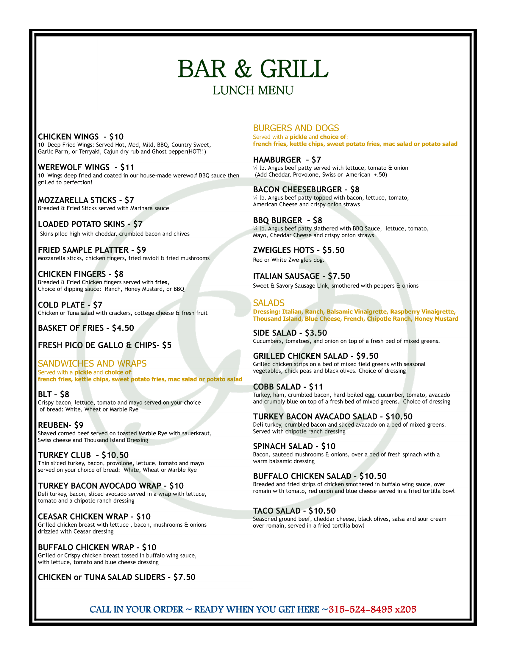 OGC Lunch Menu 2019 1 1